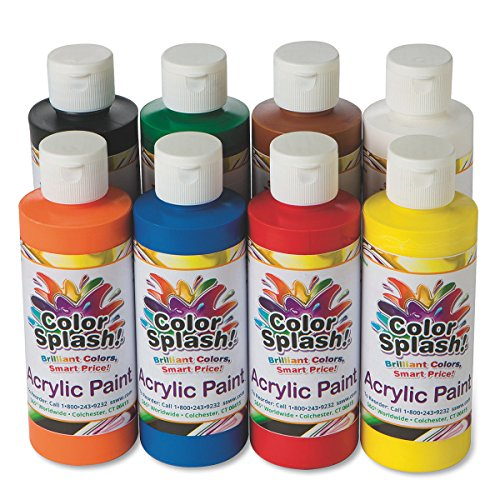8 Assortment (S&S Worldwide 8-oz. Color Splash! Acrylic Paint Assortment (set of 8))