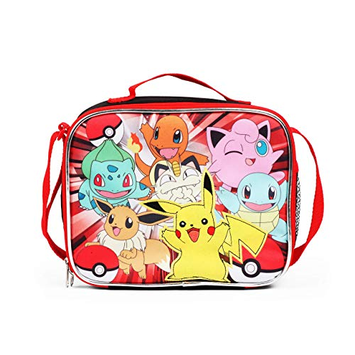FAB Pokemon Lunch Bag with Adjustable Shoulder Strap - Not Machine Specific (Pokemon Strap)