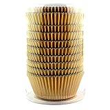 Eoonfirst Gold Foil Metallic Cupcake Case Liners
