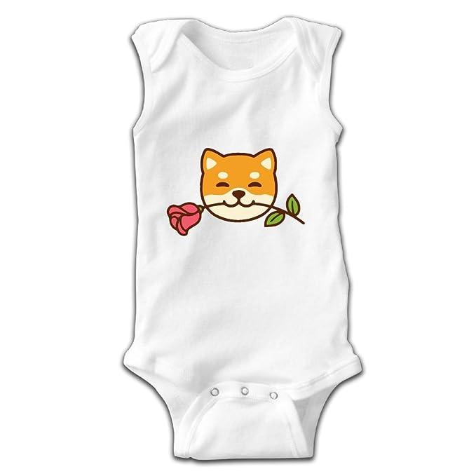 Amazon.com: Newborn Infant Baby Cute Shiba Inu Sleeveless Romper