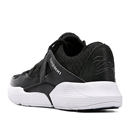 KRIMUS Black4 Mens Sports Breathable Sneakers Shoes Running Sock Walking and Lightweight Shoes Flyknit Womens 1pg1wr