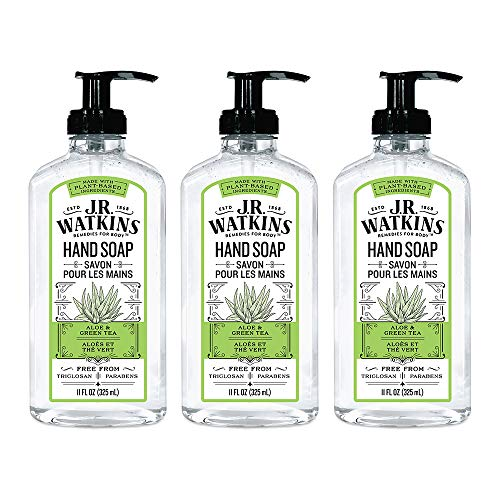 J.R. Watkins Hand Soap, Gel, 11 fl oz, Aloe & Green Tea (3 pack) (Jr Watkins Aloe And Green Tea Shampoo)