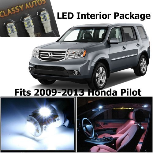 Pilot Hid Lights (Classy Autos Honda PILOT White Interior LED Package (11 Pieces))