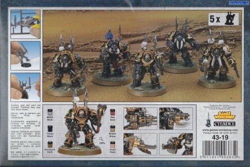 Warhammer 40K Chaos Space Marines - Terminators - Boxed Set [Board Game] by Games (Space Marine Terminator)