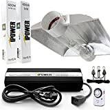 iPower 400 Watt HPS MH Digital Dimmable Grow Light System Kits Cool Tube Reflector Set XXL Wing
