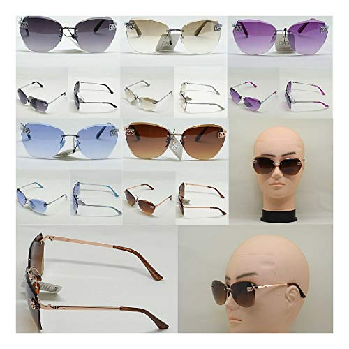 Wholesale Lot Men Women's DG Eyewear Designer Rimless Oversized Sunglasses 8035