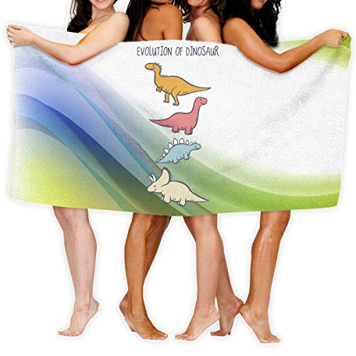 Aiguan Bath Towel Evolution of Dinosaur Personalize Soft Large Swim Beach Towels