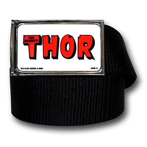 New Series Marvel Comics Thor Logo Black Web Belt