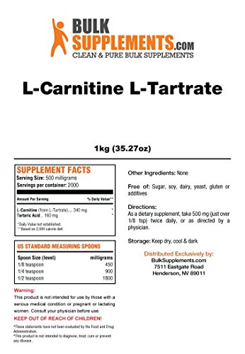 Bulksupplements L-Carnitine L-Tartrate Powder 1 Kilogram