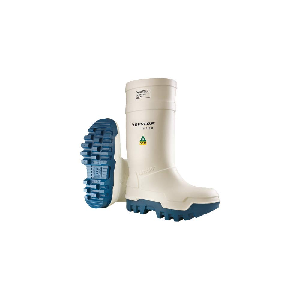 6aafc91c44c Dunlop Purofort Thermo+ Full Safety White White/Blue Shoes E662143 Size - 10