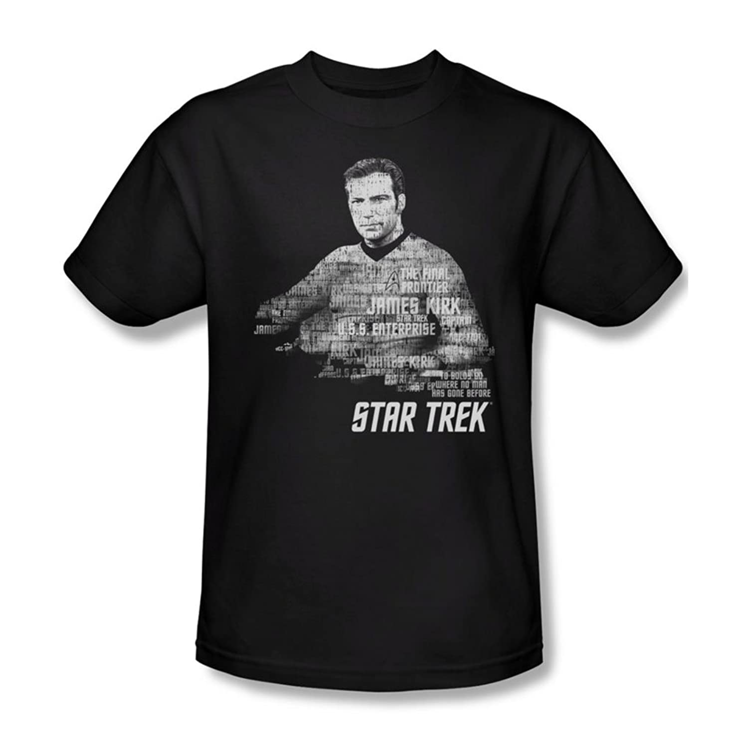 Star Trek - Mens Kirk Words T-Shirt In Black