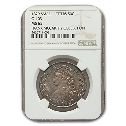 1829 Capped Bust Half Dollar MS-65 NGC (Small Letters, O-103) Half Dollar MS-65 NGC