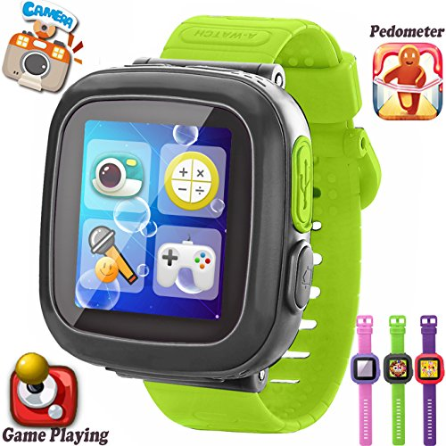 GBD Kids Game Smart Watches [AR Pro Edition] for Boys Girls with Pedometer Timer Camera Wristwatch Alarm Fitness Tracker Sport Watch Indoor Outdoor Children Learning Toy Christmas Gifts (GrayGreen)