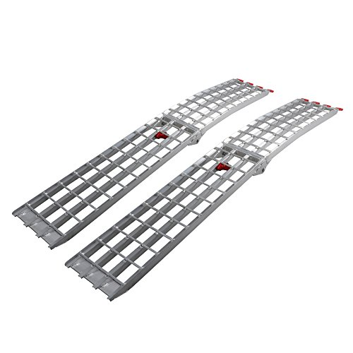 7.5' HD 4-Beam Loading Ramps 1500 lb Heavy Duty Aluminum Arched for ATV UTV Motorcycle Ramp by Motorhot(Pack of 2) ()