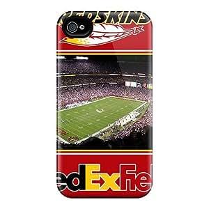 Shock Absorption Hard Phone Case For Iphone 6 (GLA5331rePq) Customized Vivid Washington Redskins Image