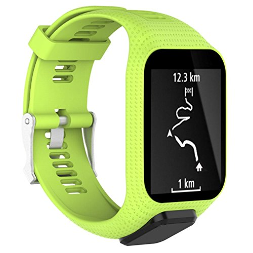 Memela TM Replacement Silicone Band Strap For TomTom Spark/3 Sport GPS Watch (Green)