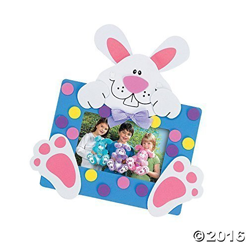 Foam Bunny Photo Frame Magnet Craft Kit/toys/arts and Crafts/school