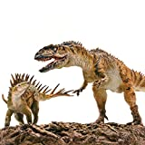 PNSO 1/35 Yangchuanosaurus Fight Chungkingosaurus Dinosaur Figure Realistic with Platform Jurassic Animal Dino PVC Model Toys Collector Decor Gift Birthday Party for Adult