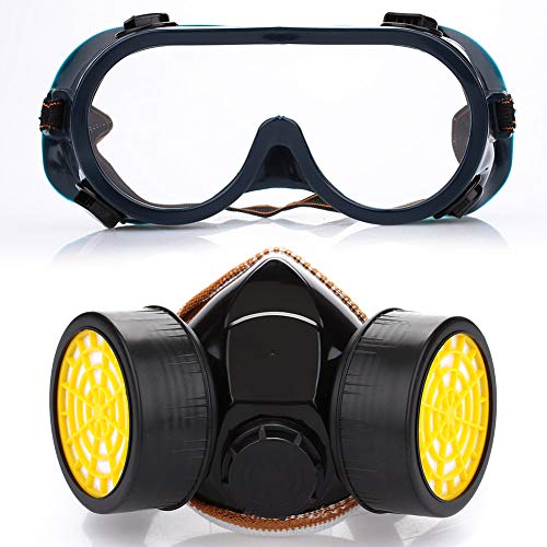 (Fdrirect TPR+ Activated Carbon + Cotton Respirator mask Pesticide Spray mask Full face mask Anti-Virus Glasses)