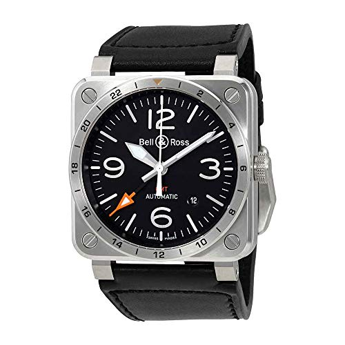 Ross Automatic Watch Bell - Bell & Ross Aviation BR0393-GMT-ST/SCA