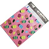 100 10x13 Pink Pineapple Designer Poly Mailers Shipping Envelopes Bags
