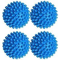 COMLIFE 4 pcs Accesorios de lavandería Bolas de Secado para Secadoras Reutilizable Suavizante Natural Antiestático Casa Domestica Comercial para ropa de bebé y piel sensible, Azul