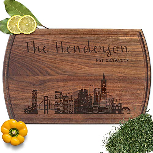 - Froolu san francisco City small cutting board for Family & Friends Christmas Gifts