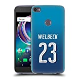 Official Arsenal FC Danny Welbeck 2017/18 Players Away Kit Group 1 Soft Gel Case for Alcatel Idol 5s 6060X