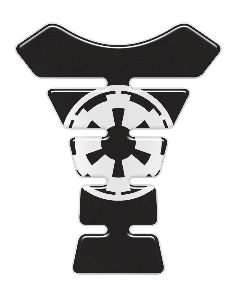 Imperial Black 3D Resin Domed Gel Tank Pad K1