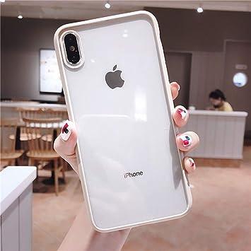 WRQLRR Caja del teléfono móvil Estuches Antideslizantes Transparentes y Sencillos para iPhone X XR XS Funda