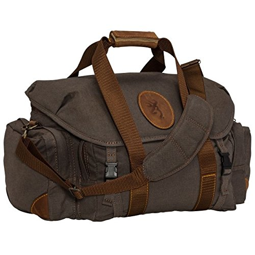 Browning 121388691 Lona, Canvas/Leather Range Bag, Flint/Brown