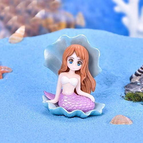 Ruzucoda Miniature Mermaid Figurines Plastic Figure Fairy Garden Home Office Landscape Decorations Ornaments Decor 4PCS
