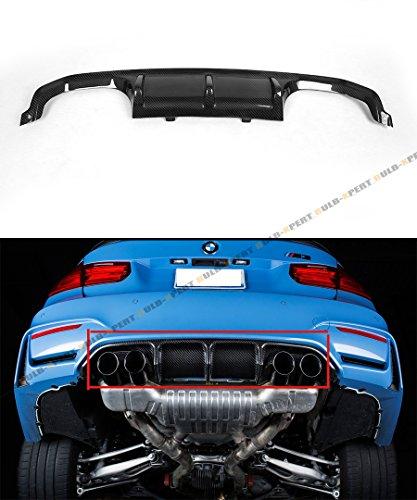 Fits 2015-2018 BMW F80 F82 F83 M3 M4 Carbon Fiber Performance Rear Bumper Diffuser Lip Kit