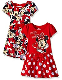 Girls 2 Pack Minnie Mouse Dresses