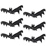 Spooktacular Creations Set of 6 Realistic Looking Spooky Hanging Bats for Best Halloween Decoration