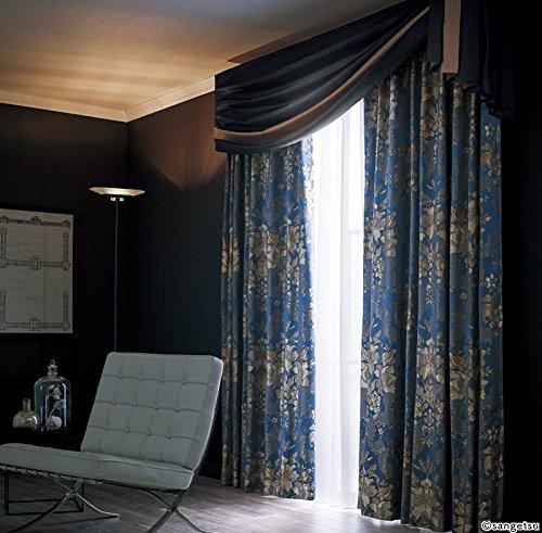 サンゲツ サテン地に2色の光沢糸で柄を表現 フラットカーテン1.3倍ヒダ SC3076 幅:100cm ×丈:170cm (2枚組)オーダーカーテン   B07847XMPF