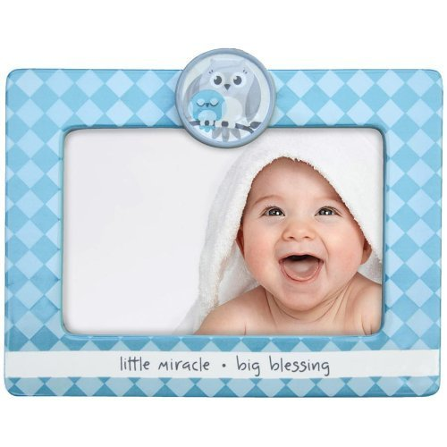 Adorable LITTLE MIRACLE - BIG BLESSING Blue Baby frame - 4x6