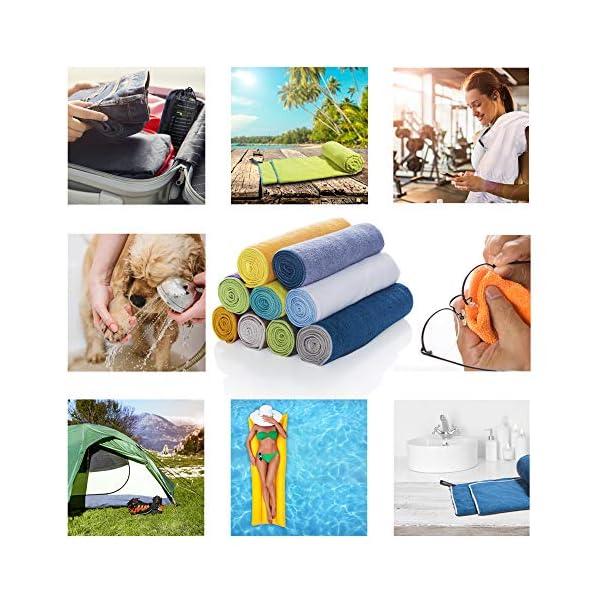 519i2jlQCGL LightDry Original Mikrofaser Backpack Sporthandtuch für Damen und Herren Reisehandtuch extrem schnell trocknend Sport…