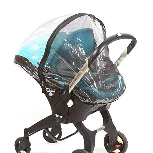 Car Seat Rain Cover - Universal Weather Shield Fits Doona and Most Infant Carrier Brands - Double Layer Vinyl and Mesh Protectors - Waterproof, Snow and Dust Proof - by Bedford Baby