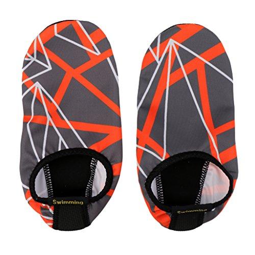 Pelle Aqua Calzini Slip Acqua Arancione Antiscivolo E Per Nuotare Immersioni On Grigio Di Artificiale Magideal Scarpe In E5wXqz7