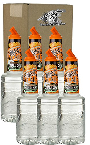Sec Halloween Costumes (Finest Call Premium Triple Sec Syrup Drink Mix, 1 Liter Bottle (33.8 Fl Oz), Pack of 6)
