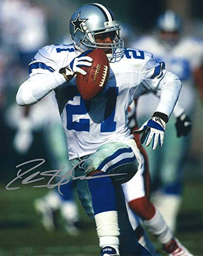 Autographed 8X10 Picture Deion Sanders Pro Football Hall of Fame COA