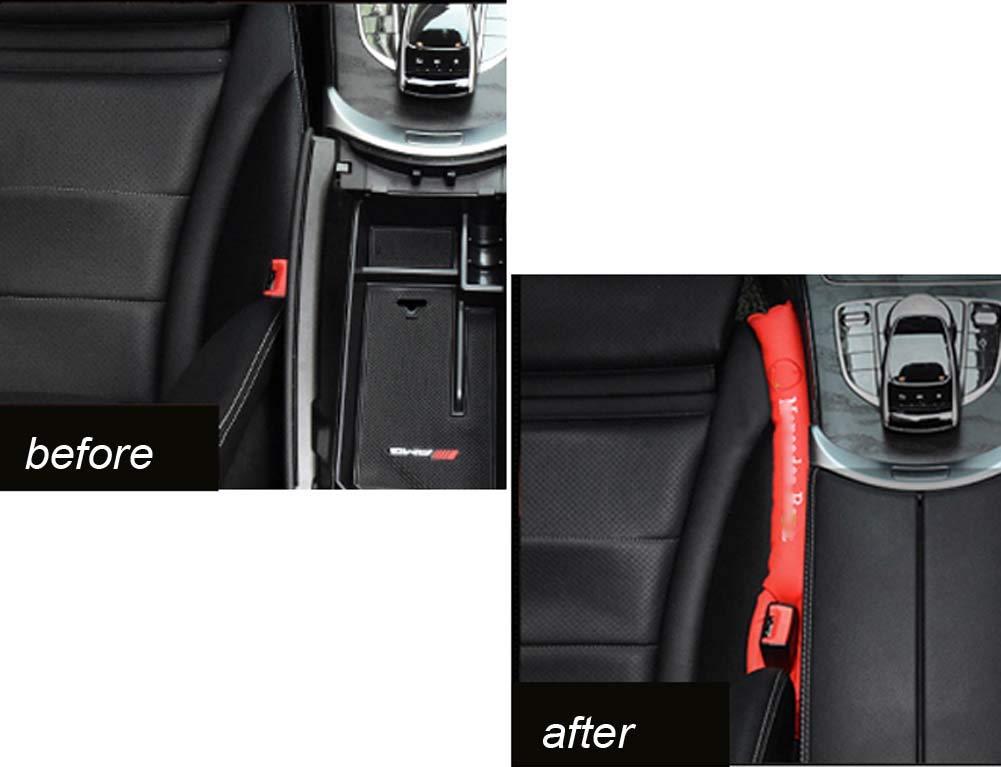 Xinshuo Seat Gap Tampon de Remplissage Garniture de fente pour si/ège de voiture en cuir PU pour Classe C SLK S M CL CLS E CLK SLS GLK 2 pi/èces