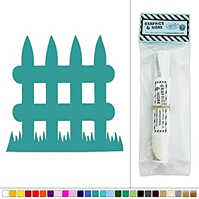 Small Picket Fence Vinyl Sticker Decal Wall Art Décor