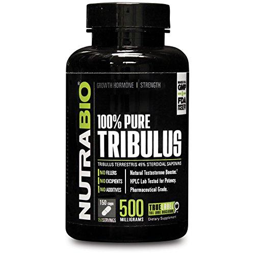 NutraBio 100% Pure Tribulus Terrestris 500 мг - 150 Растительные капсулы