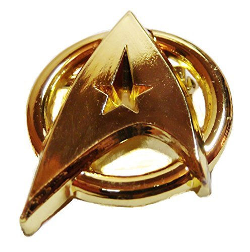 Star Trek Logo Gold Metal Communicator Badge Replica PIN ()