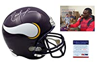 RANDY MOSS Signed Minnesota Vikings Full Size Helmet - PSA/DNA Autographed