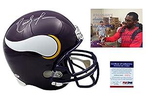 RANDY MOSS Signed Minnesota Vikings Full Size Helmet - PSA/DNA Autographed