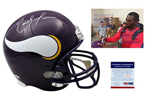 RANDY MOSS Signed Minnesota Vikings Full Size Helmet - PSA/DNA Autographed (Replica Minnesota Autographed Vikings Helmet)