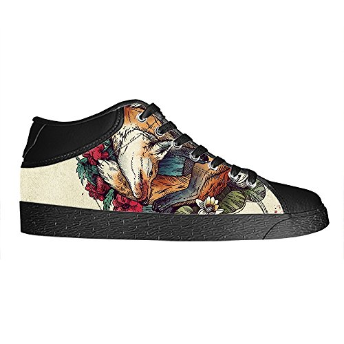 Dalliy Fox Men's Canvas shoes Schuhe Lace-up High-top Sneakers Segeltuchschuhe Leinwand-Schuh-Turnschuhe
